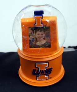 University of Illinois Photo Musical Glass Waterglobe