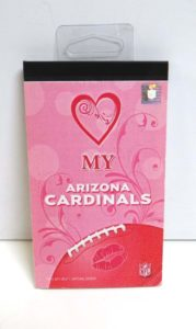 NFL Pink Arizona Cardinals Mini Padded Lined Notepad 1