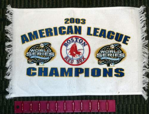 Wholesale Officially Licensed MLB Boston RED SOX 2003 American League Champions Hand Towel