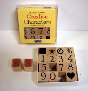 Creative Characters and Numbers Rubber Stamp Set