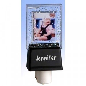 Roman Glitter Photo Frame with Chalkboard Night Light