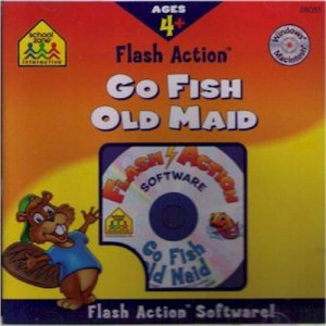 72 Per Case School Zone Flash Action Go Fish & Old Maid CD Rom Software