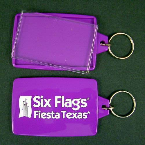144 Per Case Six Flags Fiesta Texas Picture Photo Frame Keychain