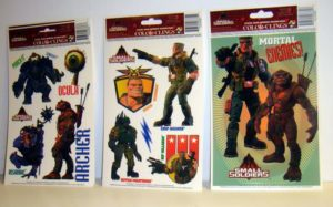 Assorted Small Soldiers Static Cling Window Decorations