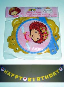 Strawberry Shortcake Happy Birthday Banner