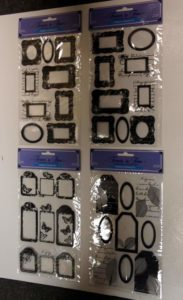 9 Assorted Shadow Tag Embellishments