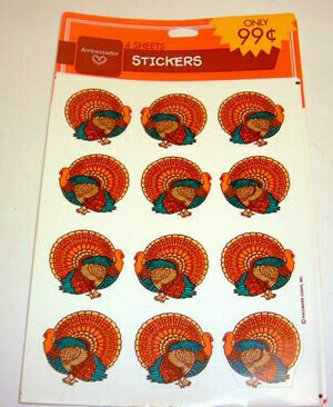 144 Per Case Thanksgiving Holiday Fall Stickers