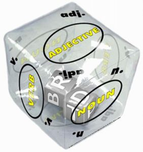 24 Per Case Tumble 'N Teach Educational Noun, Verb & Adjective Inflatable Cube