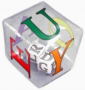 Tumble 'N Teach Educational Writable Language Inflatable Cube