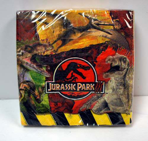 Jurassic Park III Paper Napkins - 16 Pack
