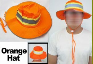Bright Orange Booney Men's Ventilated Reflective Safety Hat