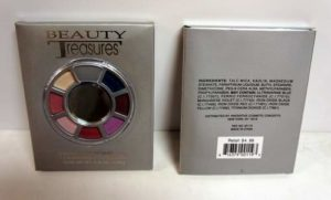 7-Color Eyeshadow Color Wheel with Applicator and Mirror