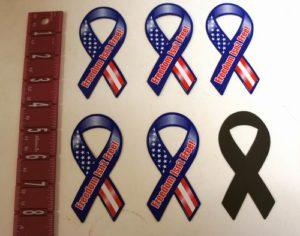 Freedom Isn't Free Mini Patriotic 4 Inch Ribbon Magnet