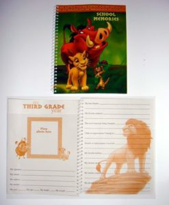 Lion King School Memories Spiral Notebook