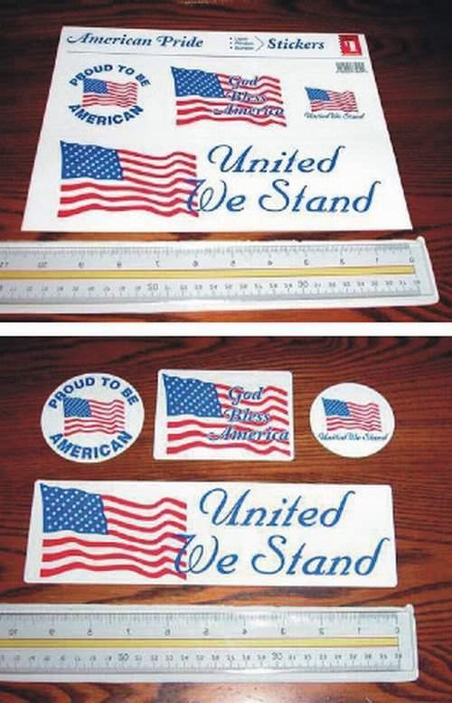 Patriotic Sticker Sheet (Includes 4 Stickers)