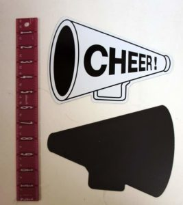 Large Cheerleading Cheer Megaphone Magnet