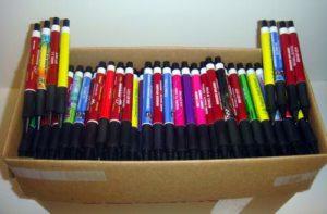 500 Wholesale Misprint Plastic Retractable Thick Pens