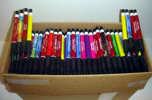 275 Lot Misprint Ink Pens with Soft Tip Stylus for Touch Screen, Assorted  Barrel