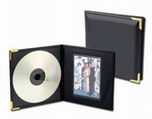 Single CD or Picture Holder with Brass Corners