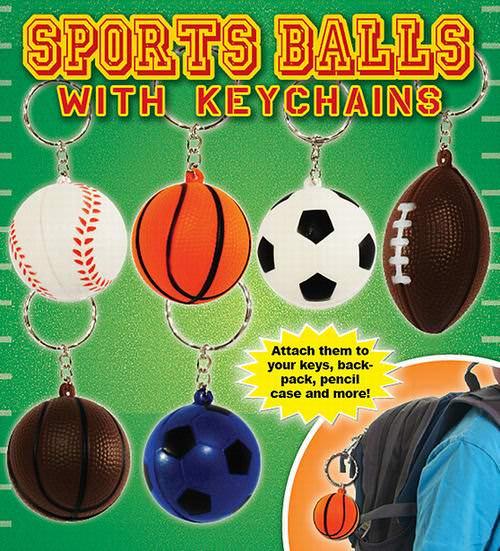 Sponge 3 5″ Sports Ball Keychains – Football, Basketball, Baseball and  Soccer