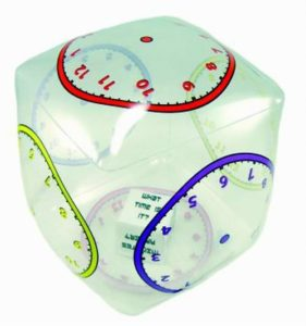 Tumble 'n Teach Educational Telling Time Inflatable Cube