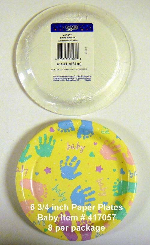 \ Baby Prints\  Paper Dessert Plates - 8 Pack & Buy Wholesale \