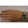 Wholesale Classy Swirl Art Silver Cuff Bracelet