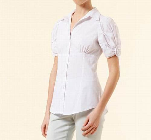 Women's Fashion ApartStyle Button-Up Rossette White Blouse - Free ...
