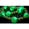 6 Per Case Green LED Lit Bead Garland