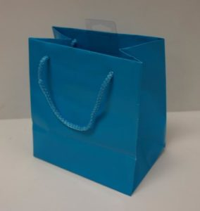 American Greeting Small Aqua Blue Gift Bag