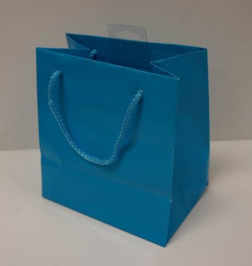 Wholesale American Greeting Small Aqua Blue Gift Bag – 6″ x 5.5 ...