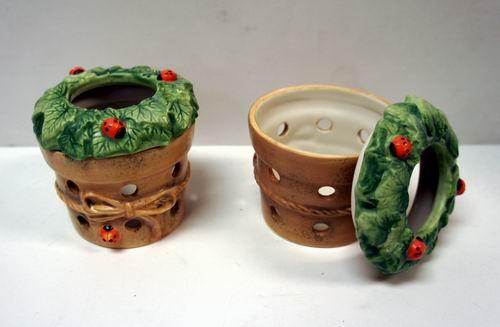Hallmark Marjolein Bastin Red Ladybug Porcelain Tealight Holder