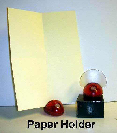Wholesale Red Plastic Desk Accessory Paper Holder