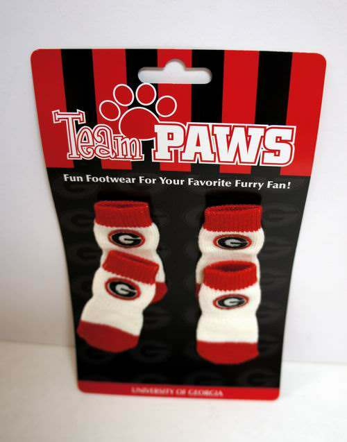 Wholesale LICENSED University of Georgia (Pack of 4) Dog Socks - Assorted Sizes