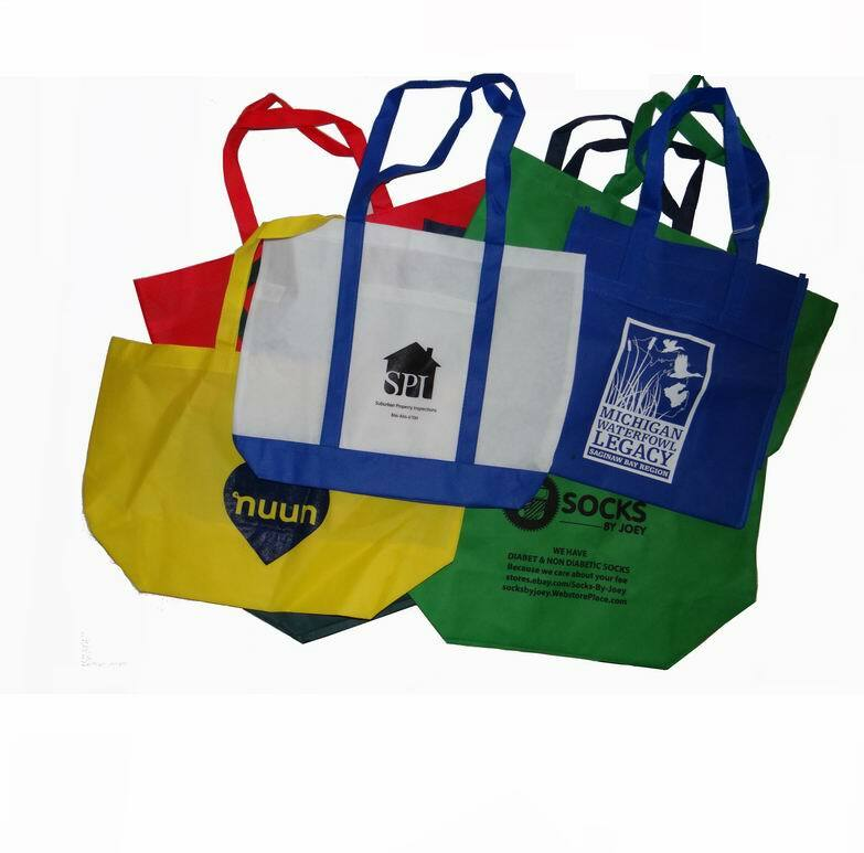 ''Assorted Misprint TOTE BAGs, Many With a Gusset''