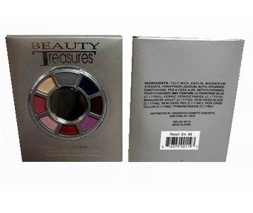 Wholesale COSMETICS 7-Color Eyeshadow Color Wheel with Applicator and Mirror