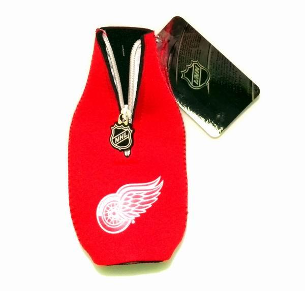 Officially Licensed NHL Detroit Red Wings Neoprene Bottle Suit Koozie Holder