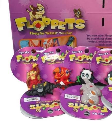 ''FLOPpets Petlets - Collectible Wearable Pets - Attach to FLIP FLOPS, Back Packs, Shoe Laces, finger