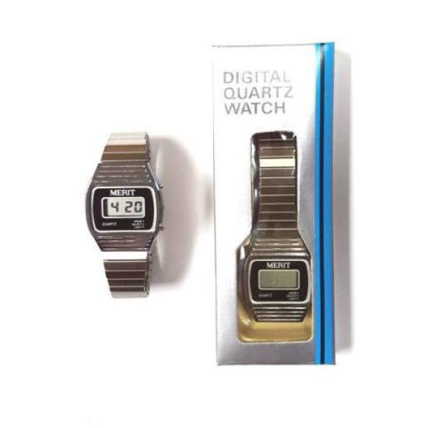 Merit Men S Silver Retro Digital Quartz Watch Needs New Batteries