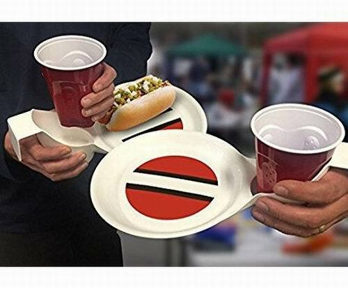 Ultimate Tailgating Plate - Cleveland Browns Striped Colors