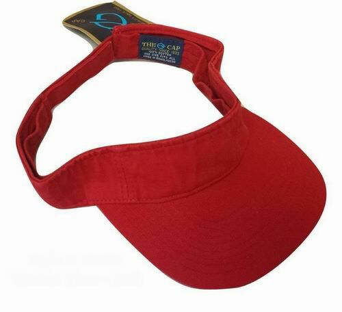 Adjustable Visor Hat (One Size Fits All)  Washed Red