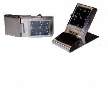 Stainless Steel Money Clip with Square Quartz WATCH