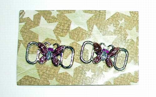 Wholesale Butterfly Metal Shoe Lace Charm Set