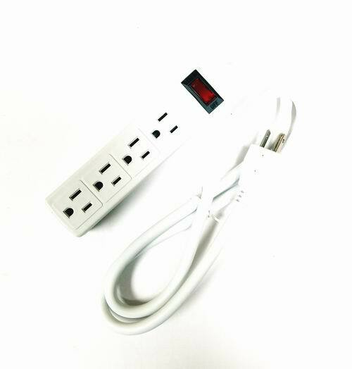 Buy Surge Protector Power Strip 4 Socket 3ft Extension Cord Wall Mount Cheap H J Liquidators And Closeouts Inc