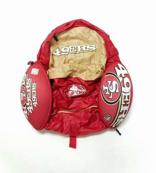 San Francisco 49ers Convertible Backpack that Zips into a Football