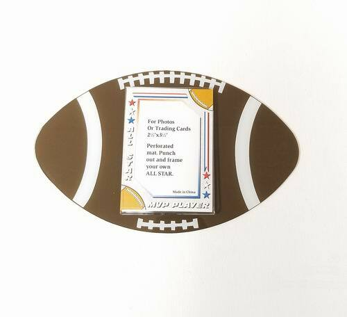 Acrylic Football Themed Picture Frame Magnet  Holds 2.5? x 3.5? Picture