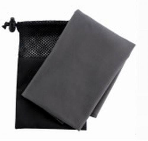 Microfiber 26? x 16? Sport Towel in Bag  Gray
