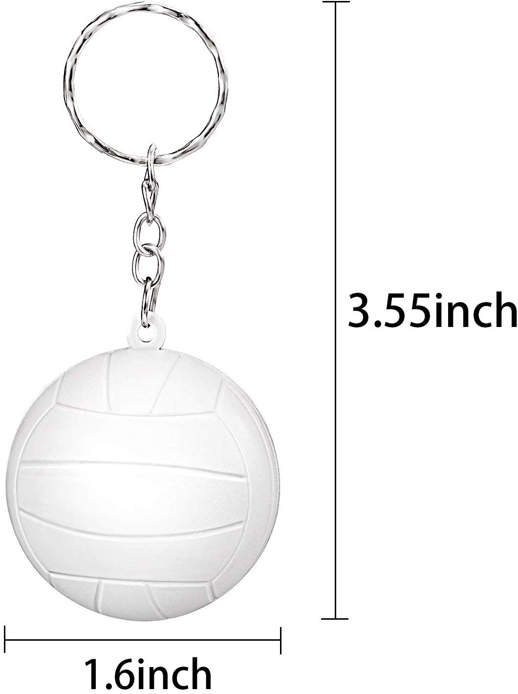Foam Sports Ball Soft VOLLEYBALL Keychain